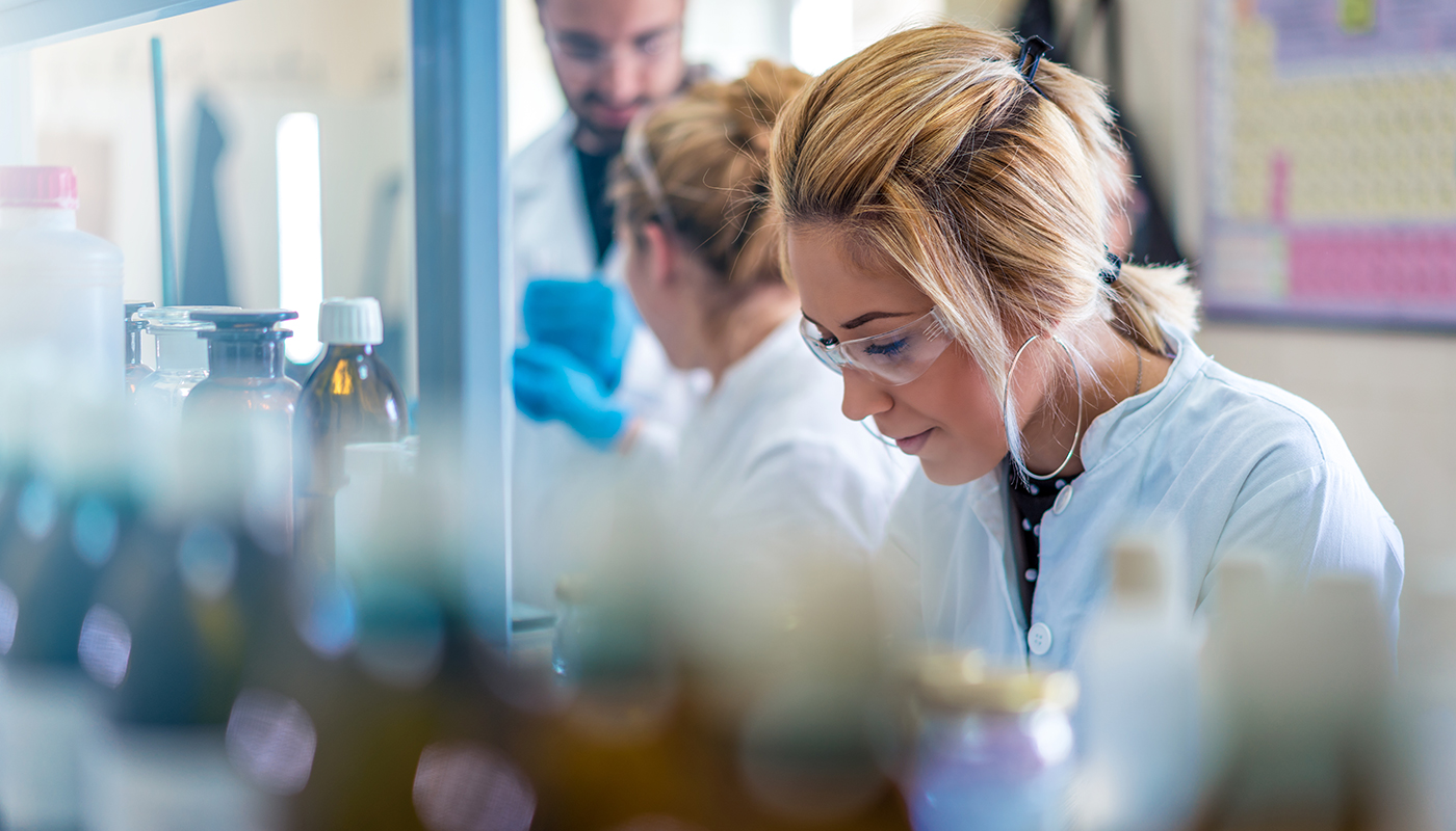 Young woman scientist working in a laboratory